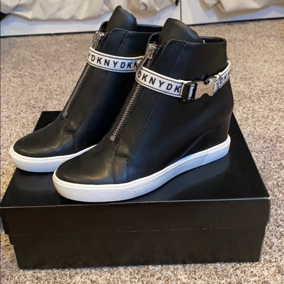 "DKNY ""Caddie"" Black Wedge Sneaker *NEVER WORN*"